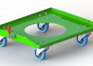 Chariot pour tondeuse Vit'Europ T600